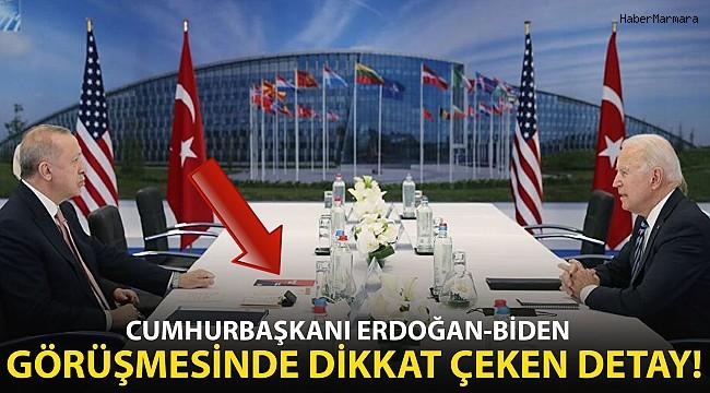 Cumhurbaşkanı Erdoğan'ın ABD Başkanı Biden İle Görüşmesinde Dikkat Çeken Detay!