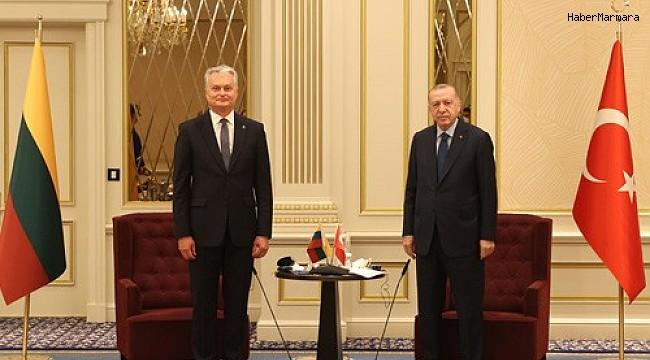Cumhurbaşkanı Erdoğan, Litvanya Cumhurbaşkanı Nauseda ile görüştü