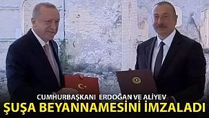 Cumhurbaşkanı Erdoğan ve Azerbaycan Cumhurbaşkanı Aliyev'den Ortak Açıklama