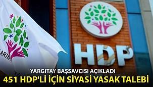 HDP'ye Kapatma Davasında Son Dakika! 451 HDP'li İçin Siyasi Yasak Talebi