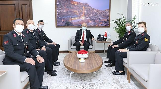 Jandarma Teşkilatından Mardin Valisi Demirtaş'a 182. kuruluş yıl dönümü ziyareti