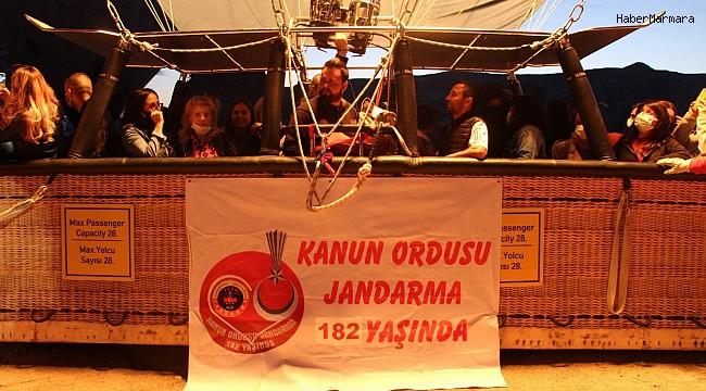 Kapadokya'da jandarmanın kuruluşunu 182.yıldönümü gökyüzünde kutlandı