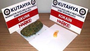 Kütahya'da durdurulan araçta uyuşturucu ele geçirildi