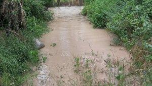 Nallıhan'da sel sonrası bir ev taşkın tehlikesi yaşadı