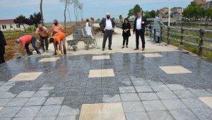 Teras Park çalışmaları başladı