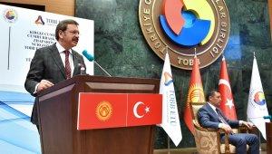 TOBB ETÜ'den Kırgız Cumhuriyeti Cumhurbaşkanı Caparov'a fahri doktora
