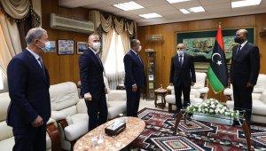 Türk üst düzey heyeti, Libya Başkanlık Konseyi üyeleri ile görüştü