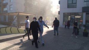 Ümraniye'de sitede yangın çıktı, vatandaşlar tahliye edildi