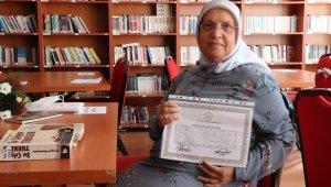 75 yaşında liseden mezun oldu, hedefi hukuk okumak