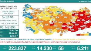 Amasya aşı haritasında yüzde 75,1'lik aşılama oranıyla mavi kategoride yer aldı
