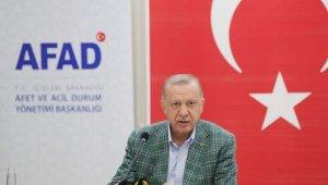 """Cumhurbaşkanı Erdoğan: """"Ormanlarımızı yakanları bulup ciğerlerini yakmak boynumuzun borcudur"""""""