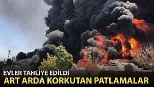 Gaziantep'te Dev Yangın! Evler Tahliye Edildi...