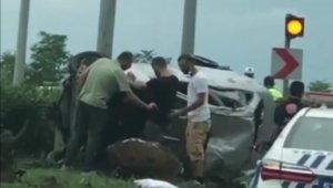Rize'de trafik kazası: 7 yaralı