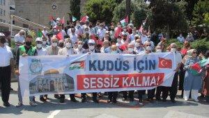 Samsun'da Kudüs için eylem