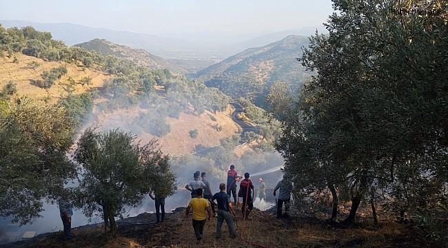Tarım arazisinde çıkan yangın kontrol altına alındı
