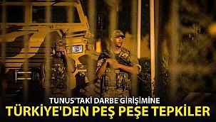 Türkiye'den Peş Peşe Tunus Tepkileri
