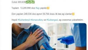 Vali Yerlikaya, İstanbul'daki aşılama oranını duyurdu