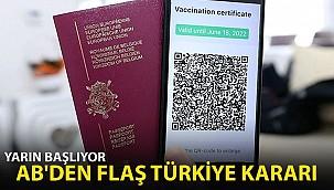AB'den Flaş Türkiye Kararı!