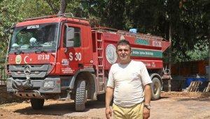 """Alevler arasında kalıp arazözünü terk etmeyen operatör: """"85 milyonun hakkı var"""""""