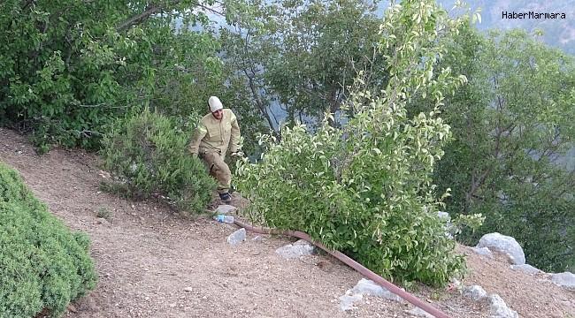 Alevlere kafa tutan yeşil vatan savaşçıları