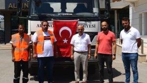 Altınova'dan Muğla'ya su tankeri gönderildi