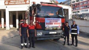 Amasya Belediyesi'nden Manavgat'a itfaiye aracı desteği