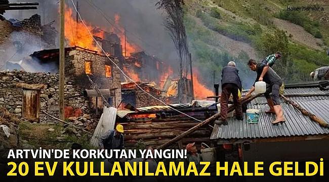 Artvin'de Korkutan Yangın! Alevler Çevredeki Evlere Sıçradı
