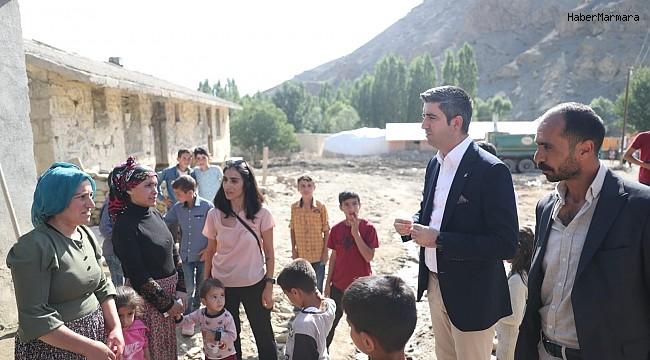 Başkan Gökhan Yüksel ve İBB heyetinden, Van'da sel mağdurlarına ziyaret