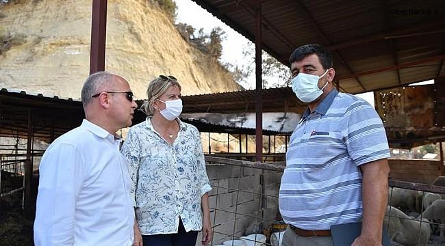 Başkan Gürkan'dan âfet bölgesine destek ziyareti