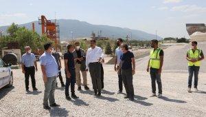 Beton yol tesisinde 80 bin ton malzeme üretildi