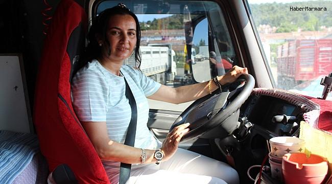 Çan'ın ilk kadın tır şoförü
