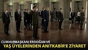 Cumhurbaşkanı Erdoğan ve YAŞ Üyelerinden Anıtkabir'e Ziyaret