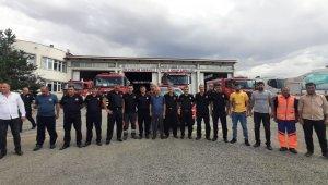 Erzurum itfaiye ekipleri Antalya için yola çıktı