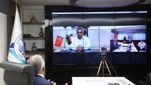 İki kardeş şehrin başkanları video konferans ile buluştu