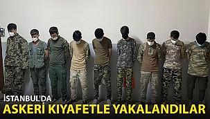 İstanbul'da Askeri Kamuflajla Yakalandılar