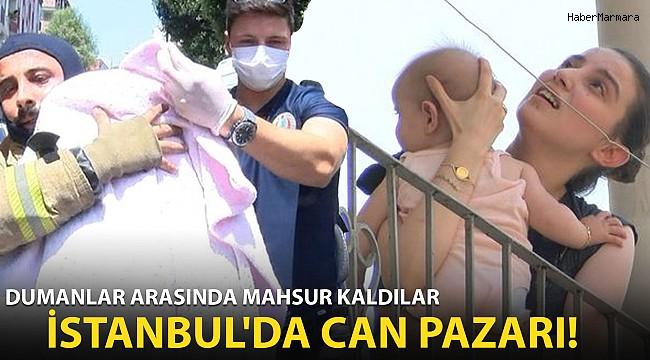 İstanbul'da Yangın Paniği! Dumanlar Arasında Mahsur Kaldılar