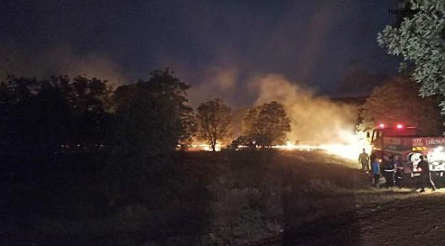Karahallı ilçesinde 4 ayrı noktada çıkan orman yangını kontrol altına alındı