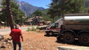 Kayseri Şeker Aladağlar Milli Parkı'ndaki yangın için seferber oldu