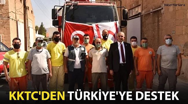 KKTC'den Türkiye'ye Yangınla Mücadele Desteği