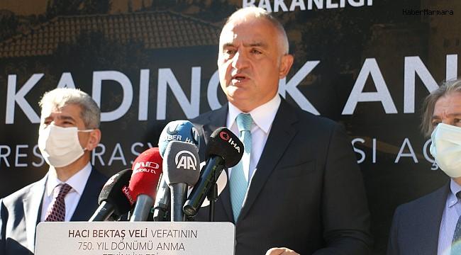 Kültür ve Turizm Bakanı Ersoy, Hacıbektaş'ta Kadıncık Ana Evi'nin açılışını yaptı