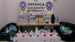 Sakarya'da sahte içki operasyonu: 85 litre etil alkol yakalandı