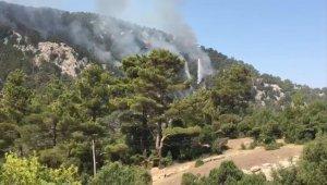 Sütçüler'deki yangın 5'inci gününde 3 bölgede devam ediyor