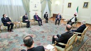 TBMM Başkanı Şentop, İran Cumhurbaşkanı Reisi ile görüştü