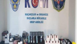 Alanya'da kaçak elektronik sigara ve likiti ele geçirildi