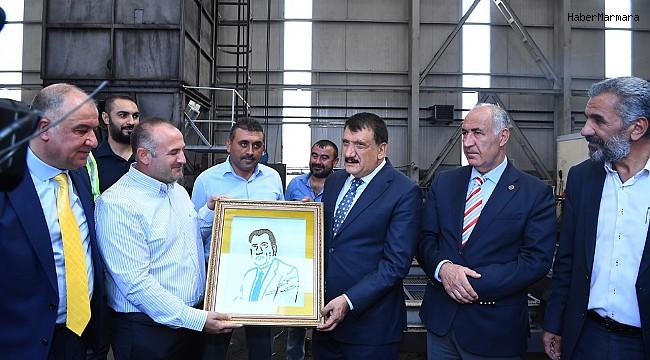 Başkan Gürken maden firmasını ziyaret etti