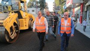 Birecik'te yürütülen asfalt çalışmaları incelendi