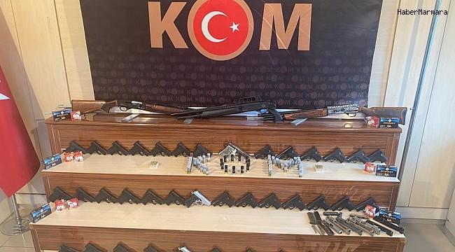 Gaziantep merkezli toplu silah kaçakçılığı operasyonunda 15 kişi tutuklandı