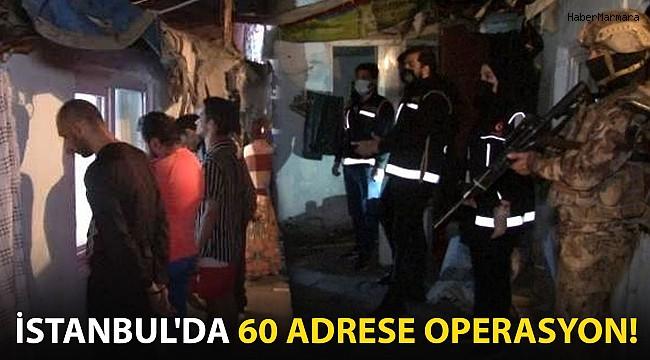 İstanbul'da 60 Adrese Operasyon! Çok Sayıda Kişiye Gözaltı