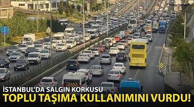 İstanbul'da Salgın Korkusu Toplu Taşımayı Vurdu