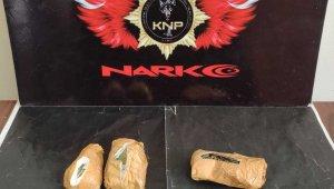 Kars'ta uyuşturucu narkotik köpek Daxo'ya takıldı